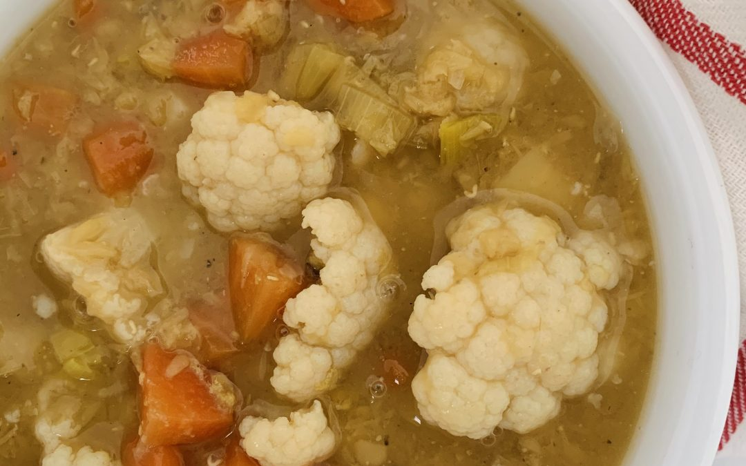 Cauliflower Soup with Lentil