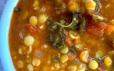 Yellow Split Pea Dahl with Kale